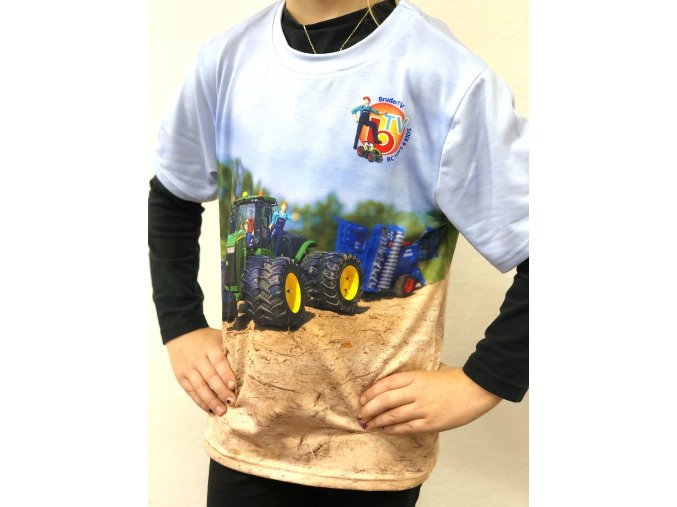 Funkční TRIČKO Celopotisk traktor RC Toys 4 Kids - John